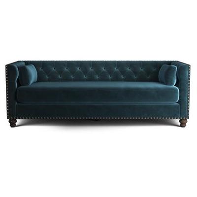 Florence Velvet Chesterfield 3 Seater Sofa Peacock Teal