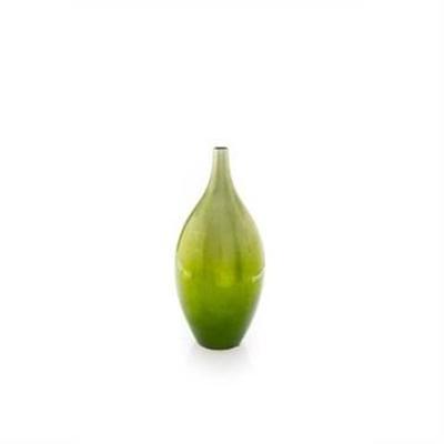 Medium Lime Green Fading Bottle Vase