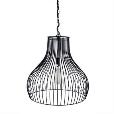 Gabby Metal Wire Pendant Light, Black