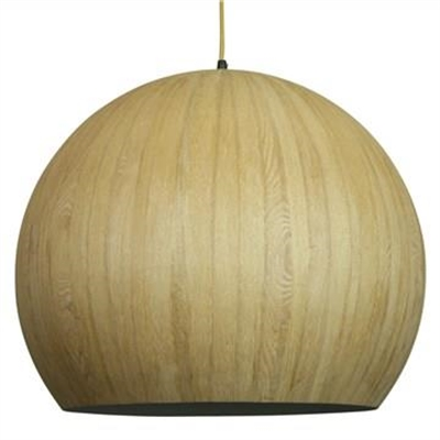 Cacia Wood Veneer Pendant Light - Oak