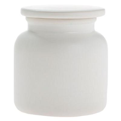 Marino Canister, White Ceramic Linen House
