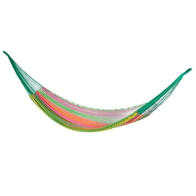 Mexican Styled Cotton Outdoor Hammock, Thick Radiante Mayan Legacy