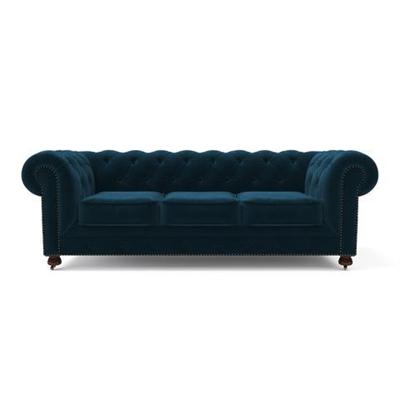 Notting Hill Velvet Chesterfield 3 Seater Sofa Peacock Teal