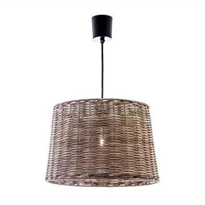 Haven Rattan Bucket Pendant Light, Large