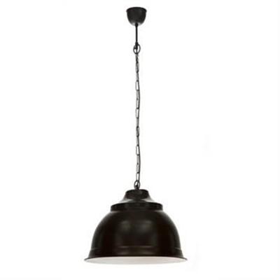 Brasserie Large Enamel Pendant Light - Black