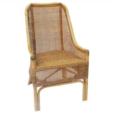 Achille Rattan Side Chair, Natural