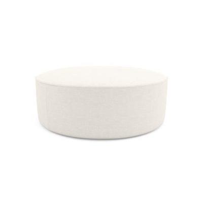 Alexa Large Round Ottoman Classic Cream