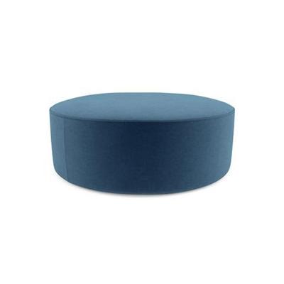 Alexa Large Round Ottoman Atlantic Blue