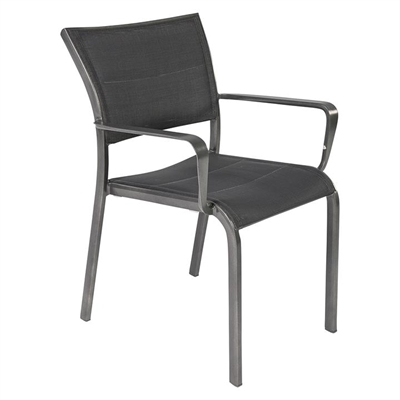 Palmero Outdoor Dining Chair, Charcoal/Grey Metal Living by Design