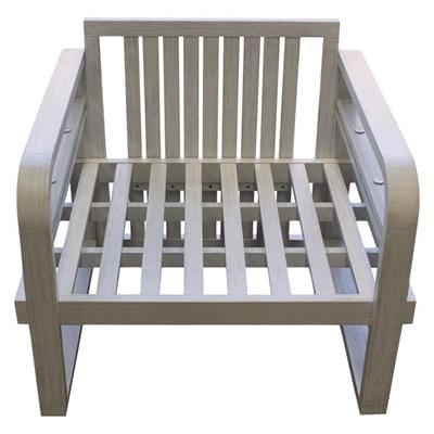 Osasuna Outdoor Armchair Wood White QFurniture