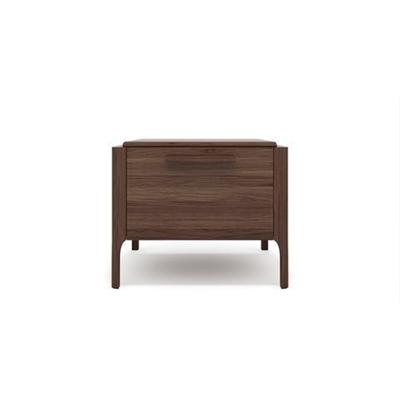 Siena Bedside Table Chocolate Brown Wood