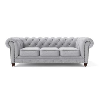 Camden Chesterfield 3 Seater Sofa Cloud Grey