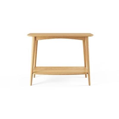 Mia Console Table with Shelf Scandi Oak Wood