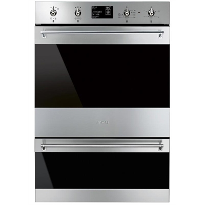 Smeg 60cm Thermoseal Pyrolytic Double Oven - DOSPA6395X      *NARTA Bonus Wine Offer Promotion*Bonus Cashback via SMEG