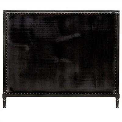 Georgian Fabric Bed Head, King Size, Black Velvet