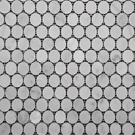 DL10139 Carrara penny round