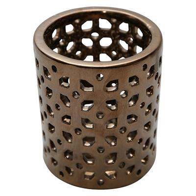Alloy Hurricane Candle Holder Ceramic Gold HG Whiskey Boyd Design