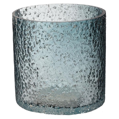 Rock Salt Hurricane Candle Holder Glass Winter Whiskey Boyd Design