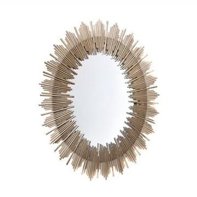 Franklin Iron Framed Wall Mirror, 103cm, Antique Gold