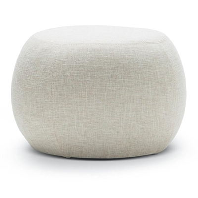 Venus Round Fabric Pouf, Light Beige by FLH, a Ottomans for sale on Style Sourcebook