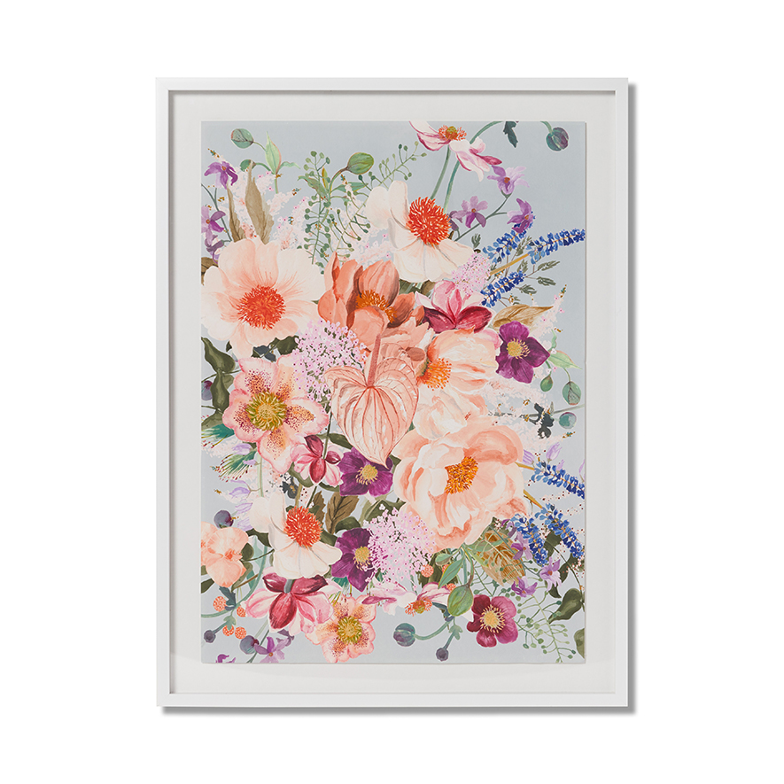 Neo Florals Coral Bloom by Adairs, a Prints for sale on Style Sourcebook