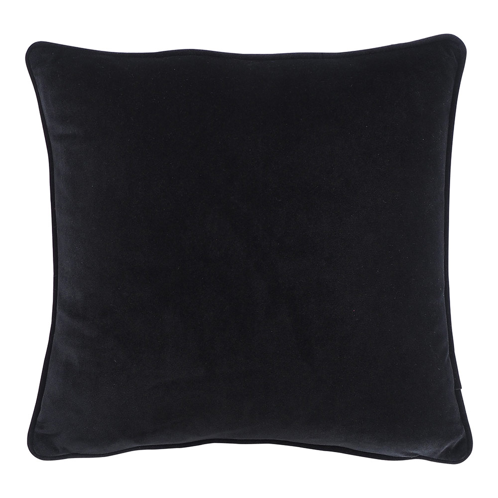 Black Velvet Cushion 45x45Cm by Early Settler, a Cushions, Decorative Pillows for sale on Style Sourcebook
