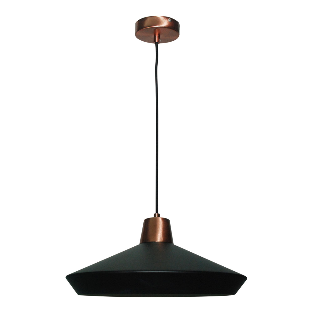 Hugo Black Pendant 39x19cm by Early Settler, a Pendant Lighting for sale on Style Sourcebook