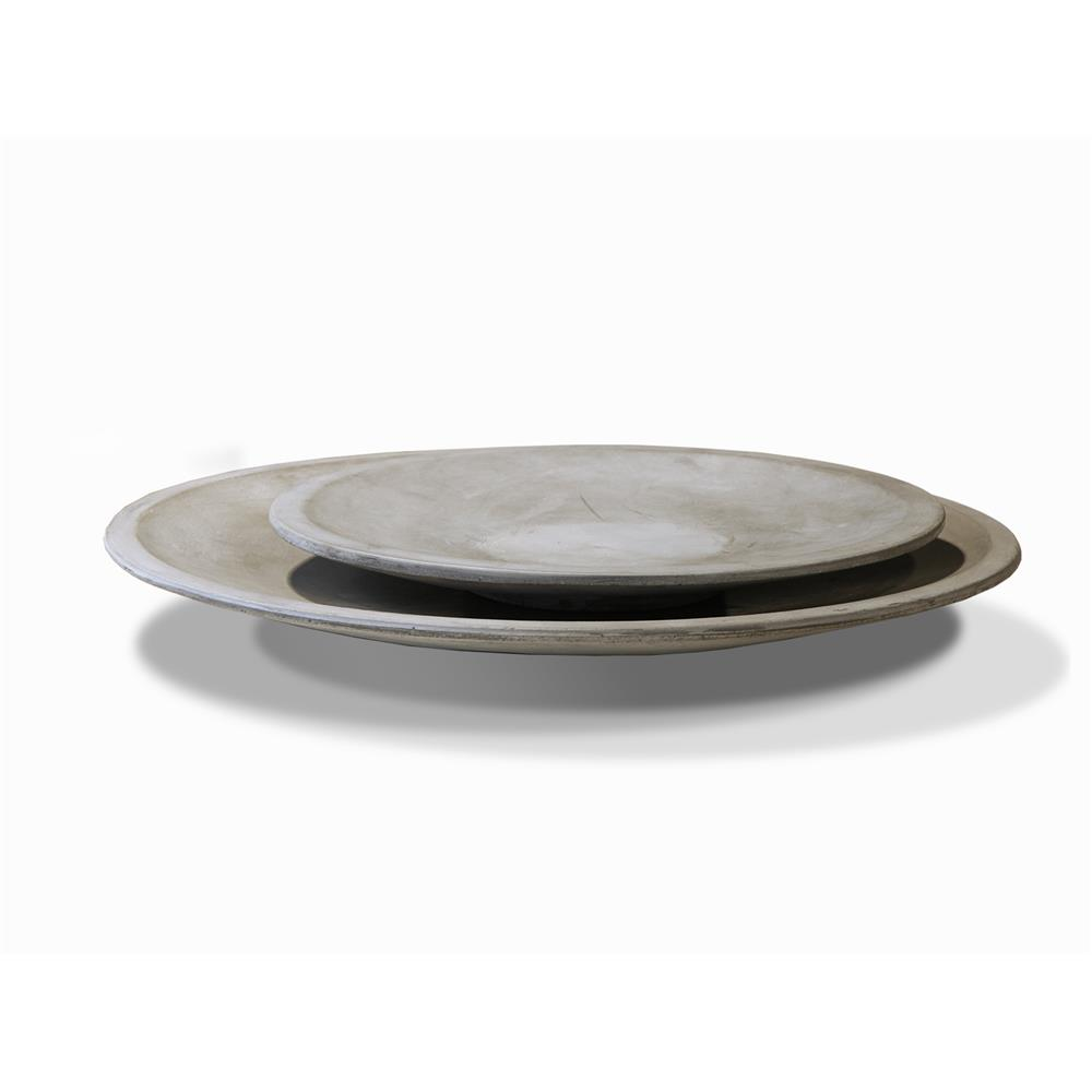 Girona 400mm Polished Concrete Shallow Dish by James Lane, a Decorative Plates & Bowls for sale on Style Sourcebook