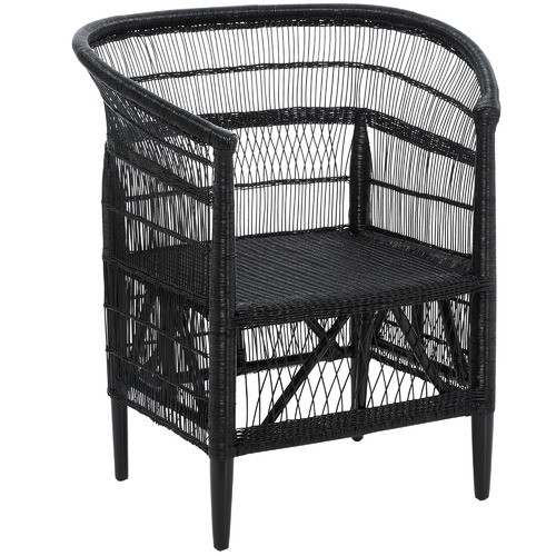 La Palma Rattan Armchair Colour: Black by Temple & Webster, a Chairs for sale on Style Sourcebook