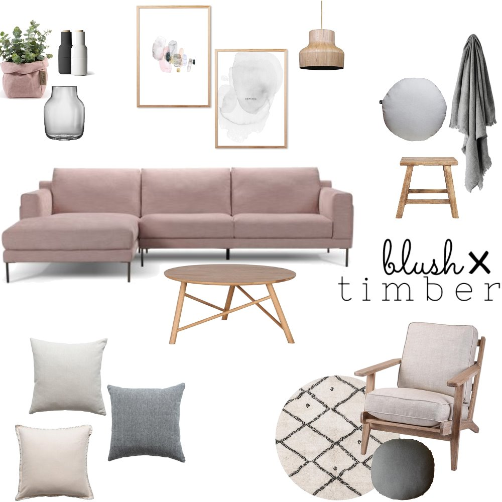 Blush x Timber Interior Design Mood Board by OurLittleHome on Style Sourcebook