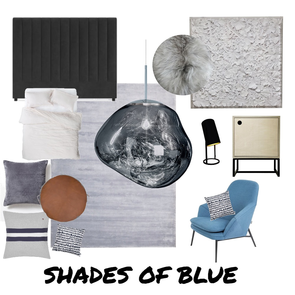 Shades of Blue Interior Design Mood Board by Kate Vale / Design & Consulting  on Style Sourcebook