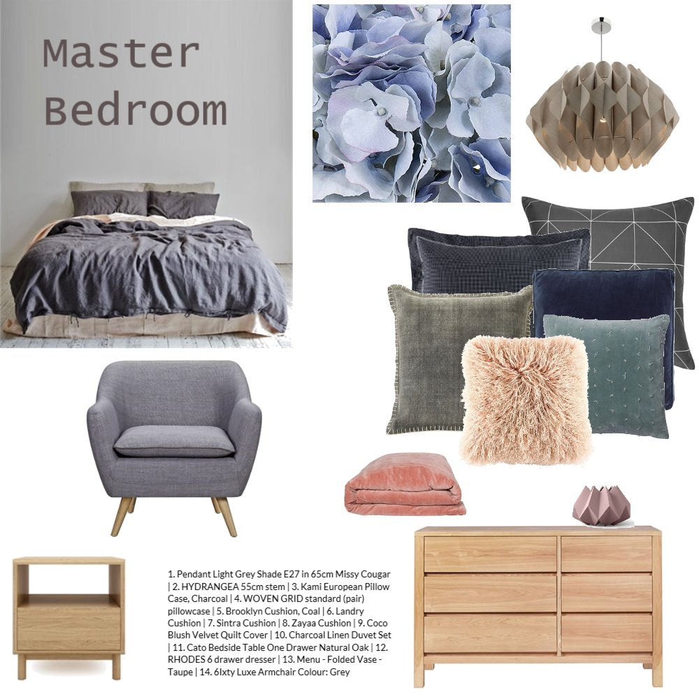 Master Bedroom Interior Design Mood Board by Inspace Design on Style Sourcebook