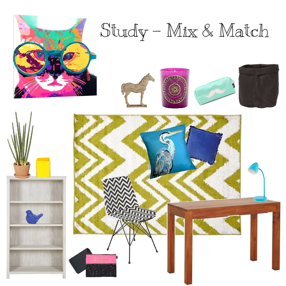 Study - Mix & Match Interior Design Mood Board by Harvey Interiors on Style Sourcebook