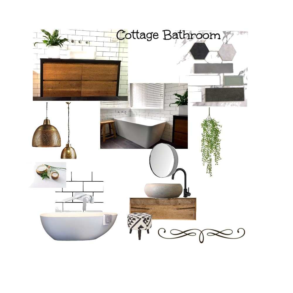 Cottage Bathroom Interior Design Mood Board by Just In Place on Style Sourcebook