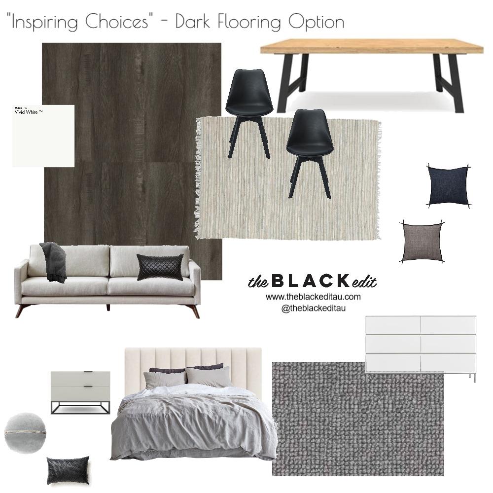 Inspiring Choices - Dark Flooring Option Interior Design Mood Board by the BLACK edit on Style Sourcebook