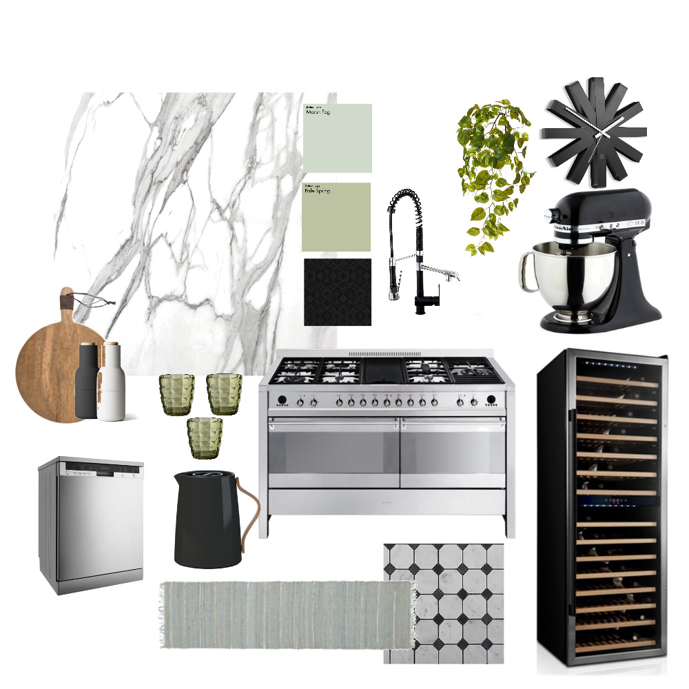 Contemporary Kitchen Interior Design Mood Board by acb on Style Sourcebook