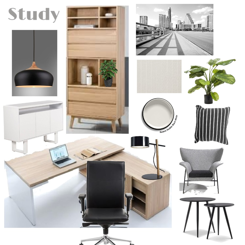 Study Interior Design Mood Board by LGDesigns on Style Sourcebook
