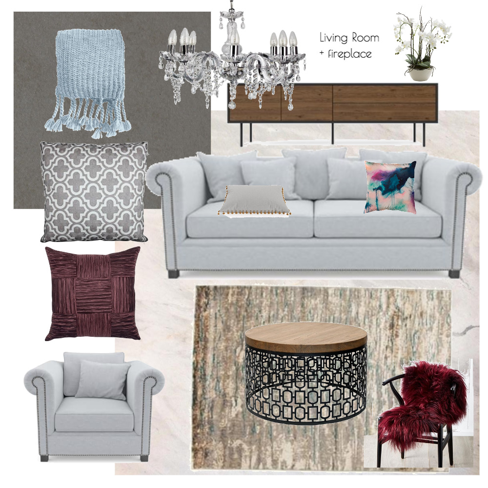 Lina and Quang Living Room Interior Design Mood Board by Plush Design Interiors on Style Sourcebook
