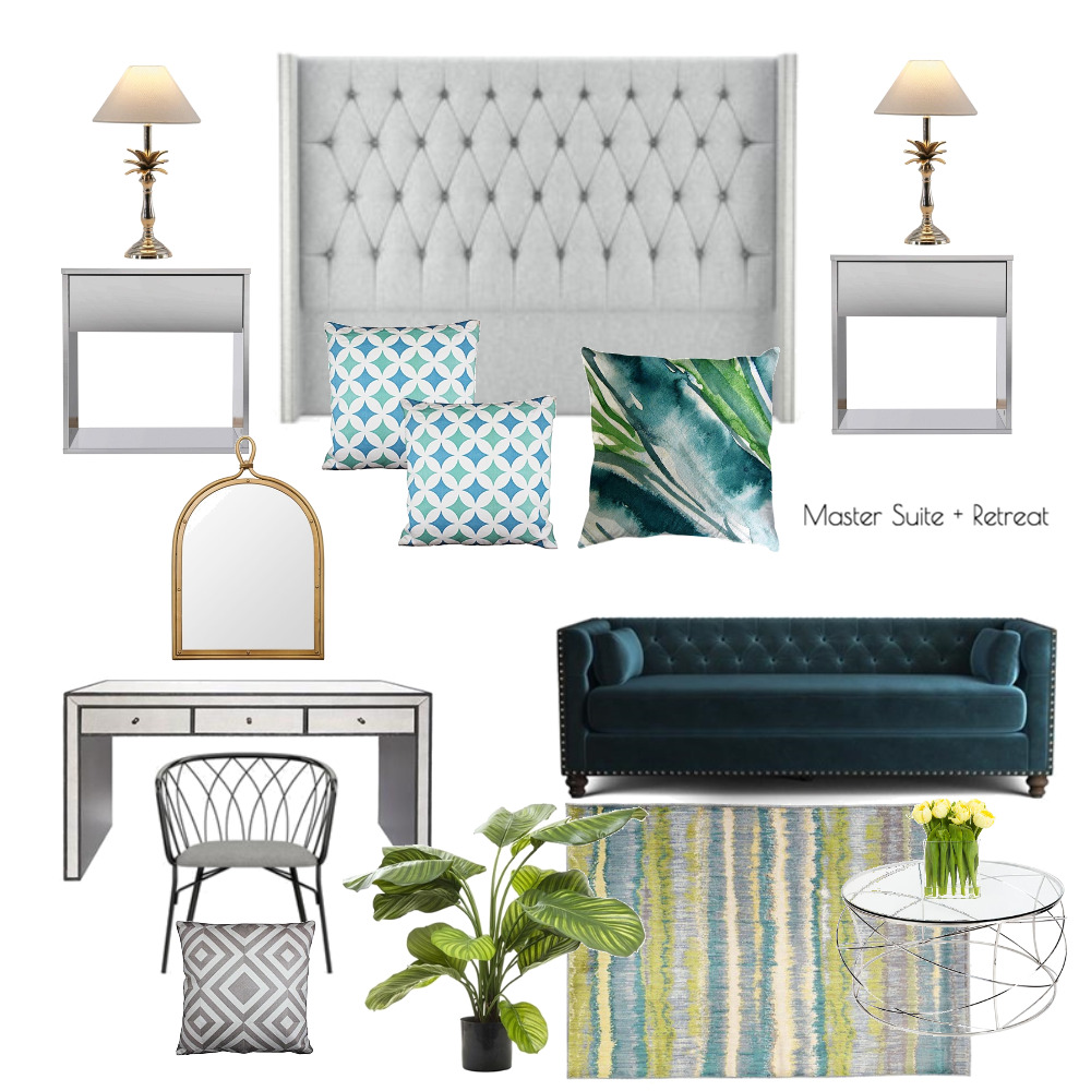 Lina and Quang Master Suite + Retreat Interior Design Mood Board by Plush Design Interiors on Style Sourcebook
