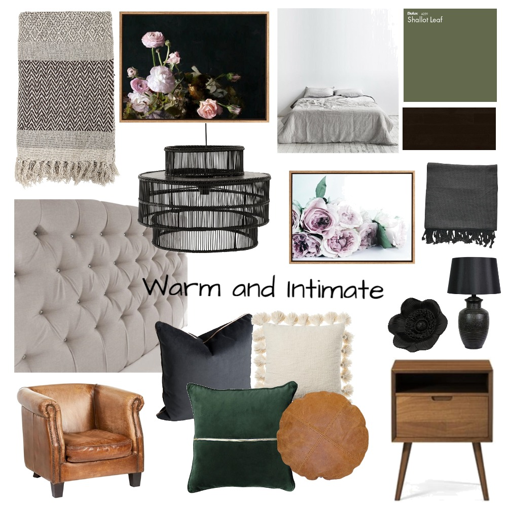 Warm and Intimate Interior Design Mood Board by oliviabaradat on Style Sourcebook