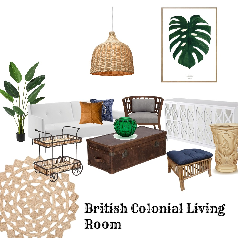 British Colonial Living Room Interior Design Mood Board by mooloolaba_lifestyle on Style Sourcebook