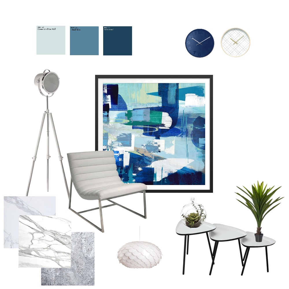blue living Interior Design Mood Board by fakata on Style Sourcebook