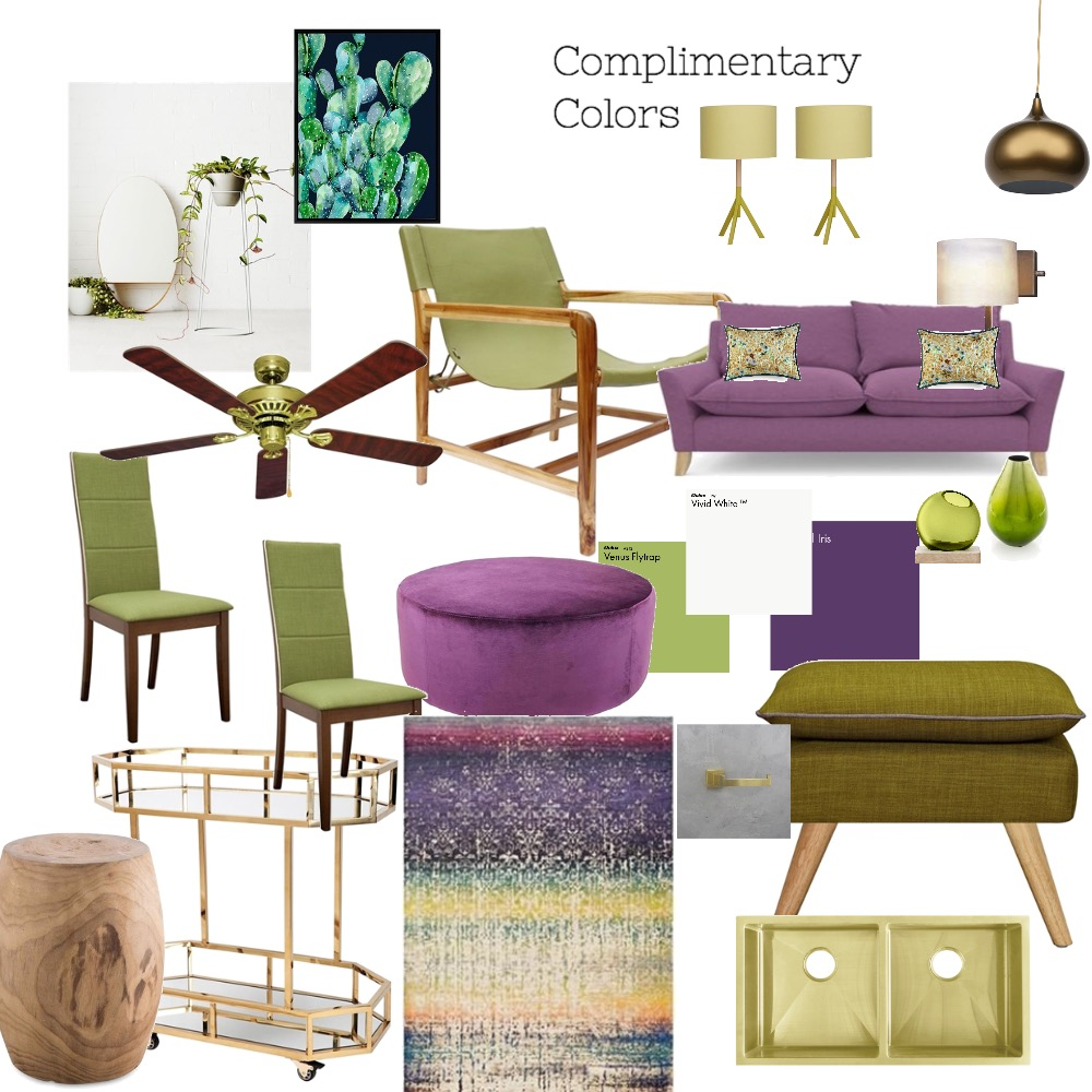 complimentary colours Interior Design Mood Board by Catleyland on Style Sourcebook