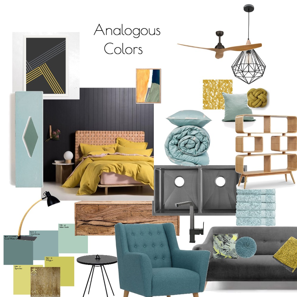 Analogous colors Interior Design Mood Board by Catleyland on Style Sourcebook