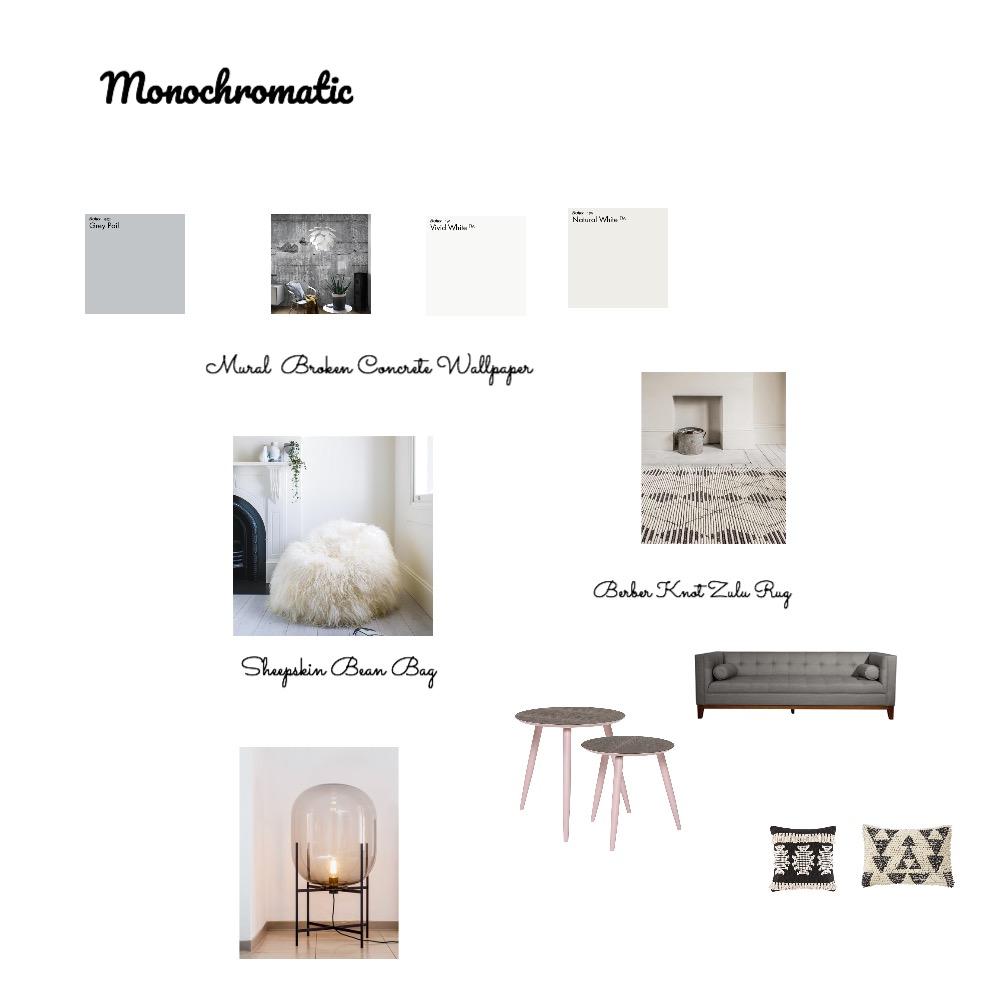 Monochromatic Interior Design Mood Board by pmccallan0 on Style Sourcebook