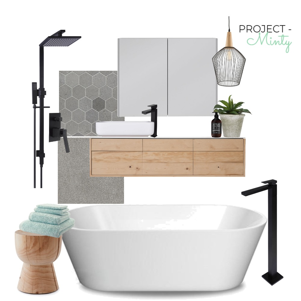 Project Mint - Bathroom Interior Design Mood Board by Michelle Finch on Style Sourcebook