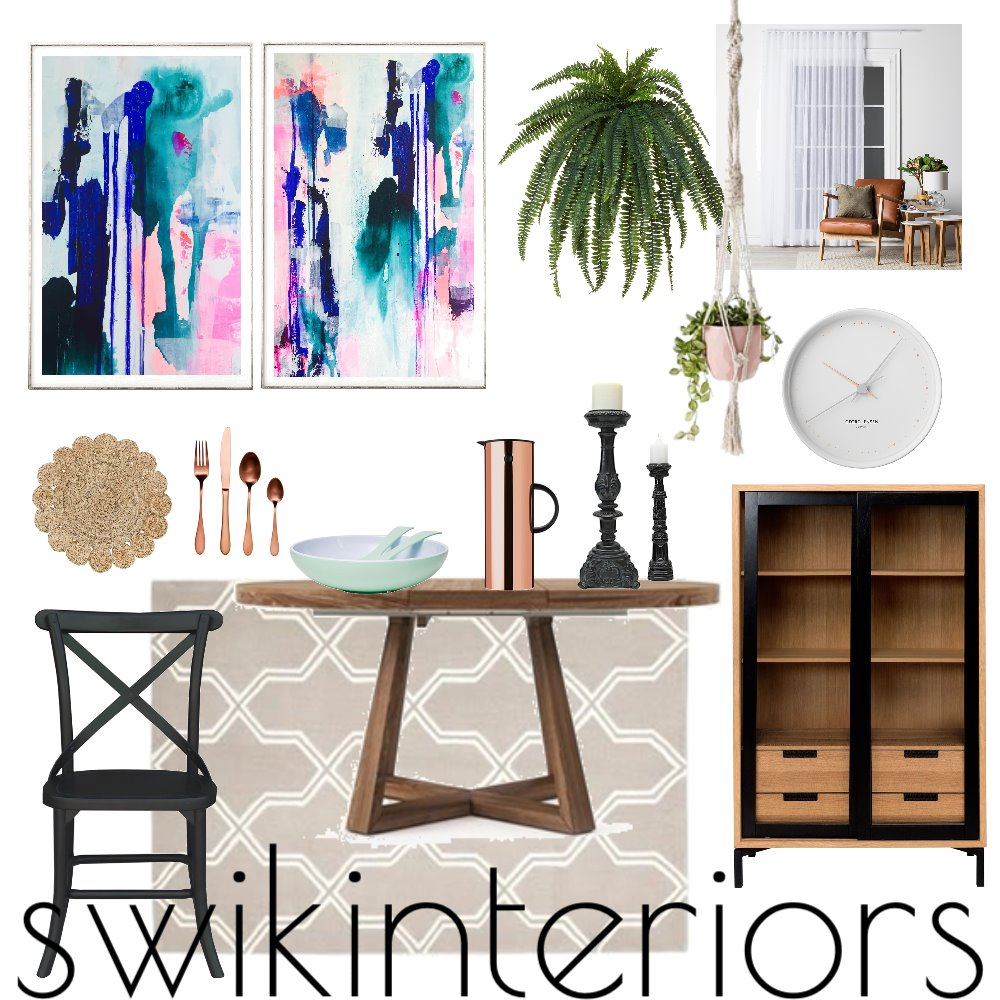 MODERN DINING ROOM Interior Design Mood Board by SWIK Interiors on Style Sourcebook