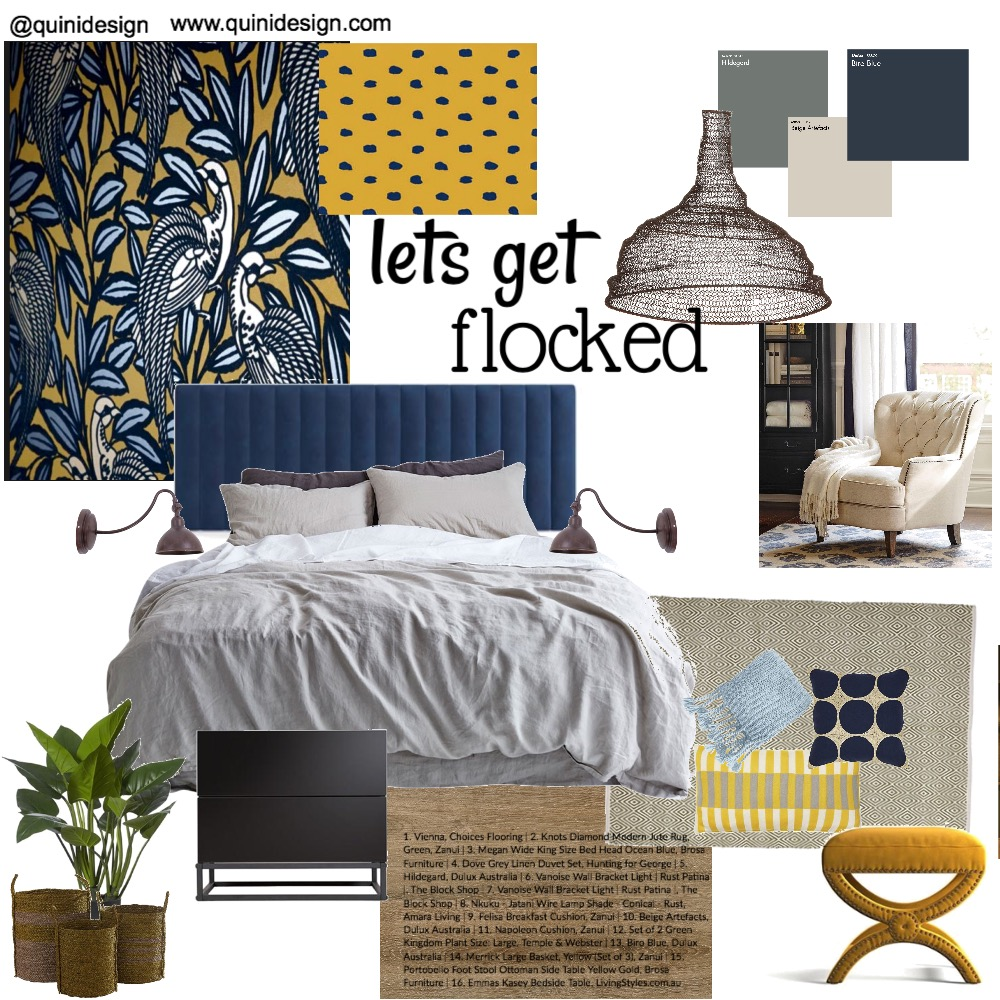 lets get flocked Interior Design Mood Board by quinidesign on Style Sourcebook