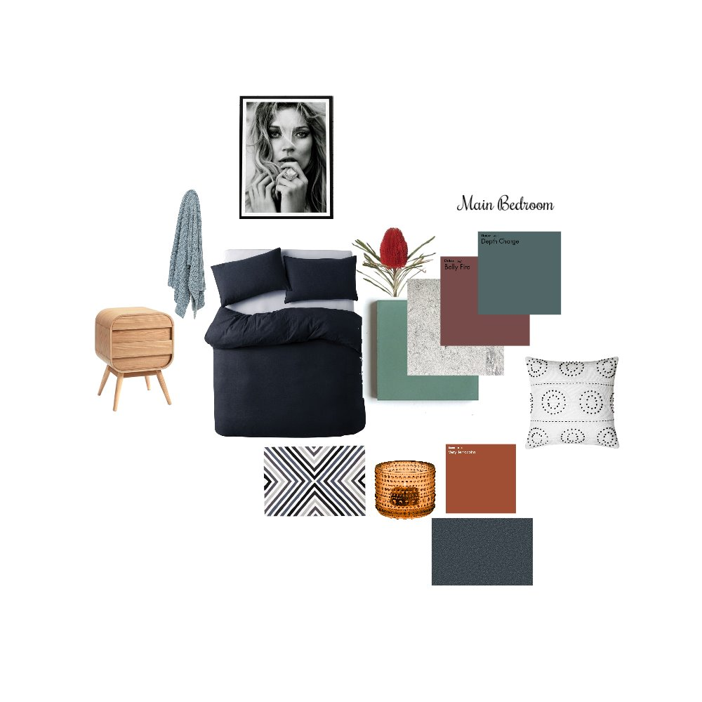 Main bedroom- raize the roof Interior Design Mood Board by Jodie McCaskill Designs on Style Sourcebook
