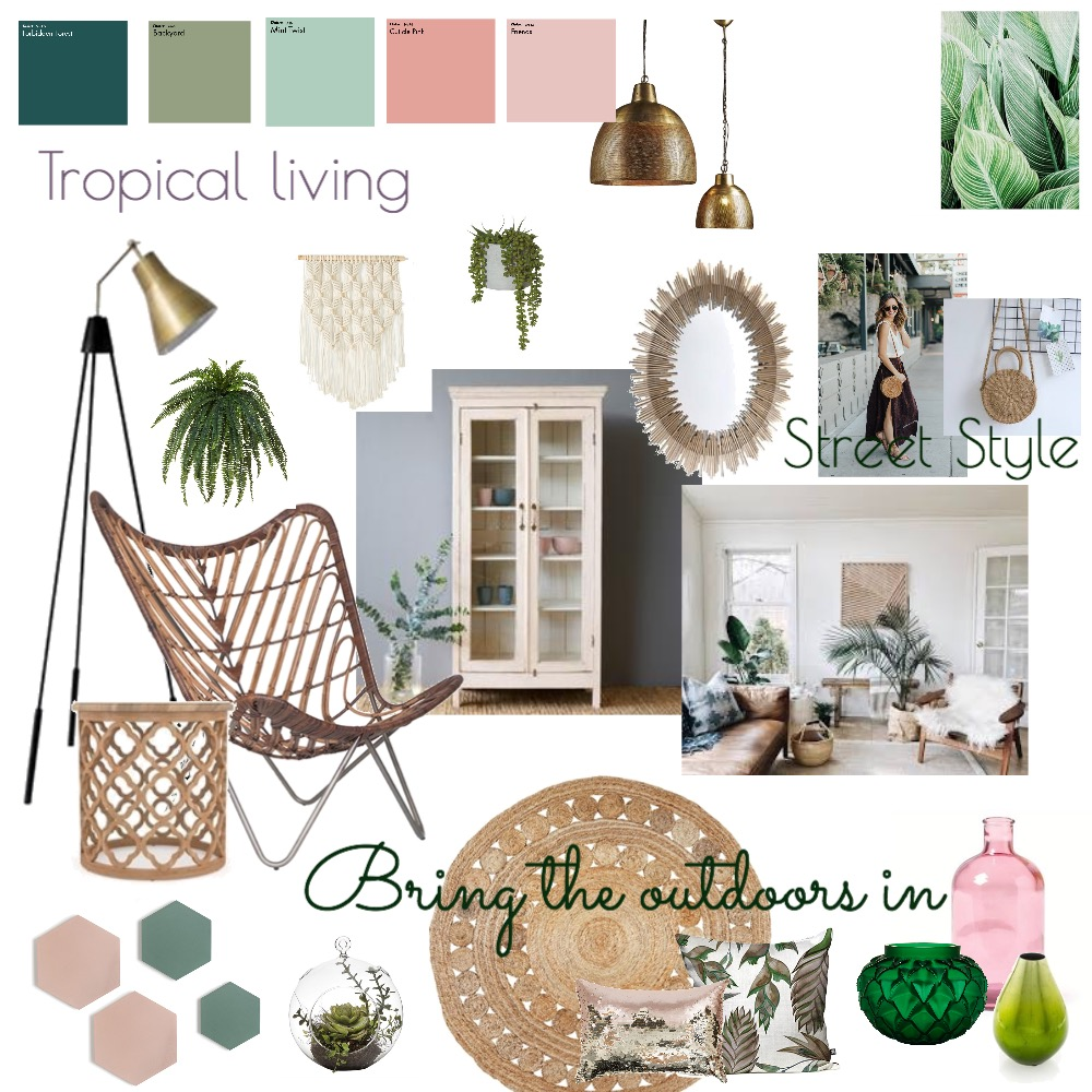 Tropical living Interior Design Mood Board by vanessasandham on Style Sourcebook